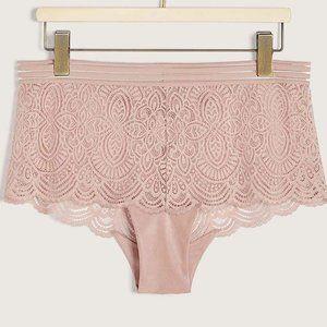 Ashley Graham Boyshort Lace Panty Plus sz X